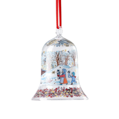 Hutschenreuther Kerst 2021 Kerstklokje glas 2021