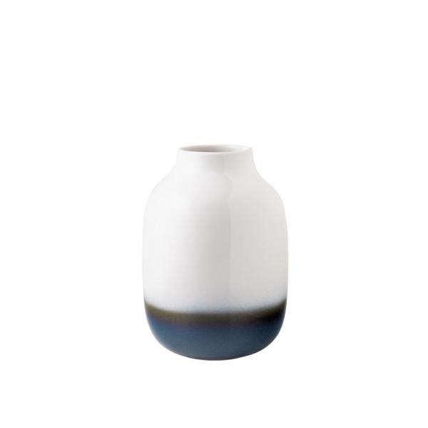 Nek vaas wit blauw groot