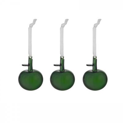 Iittala Kerst 2021 Glazen appel groen set van 3