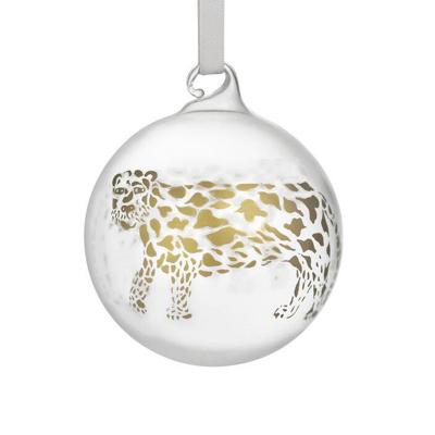 Iittala Kerst 2021 Glazen kerstbal 2021 Toikka Cheetah