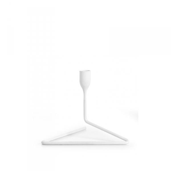 Kaarsenstandaard 14 cm wit