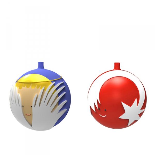 Kerstballenset, per 2