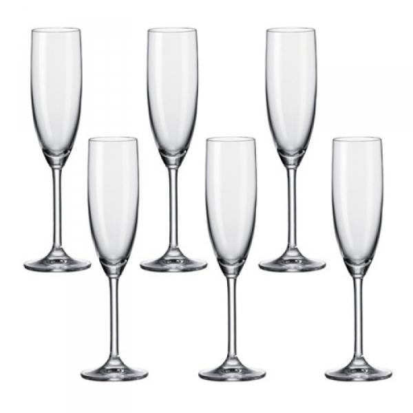 Champagneglas 0,21 l, per 6