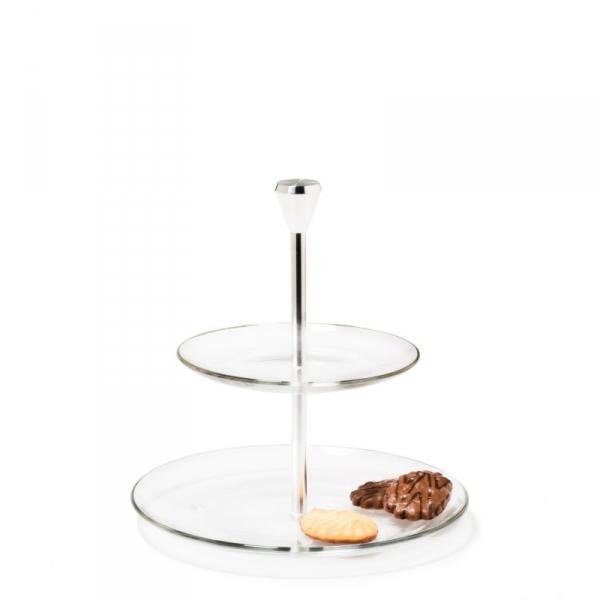 Etagère glas 2-laags 22,5 cm