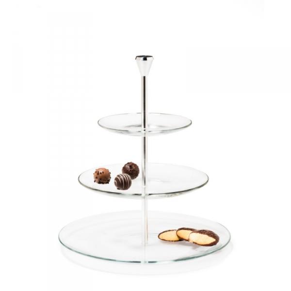 Etagère glas 3-laags 33 cm