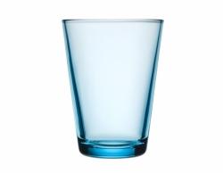 Waterglas 0,40 l lichtblauw, per 2