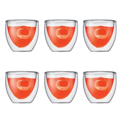 Bodum Pavina Dubbelwandig Glas Set van 6 0,08 L