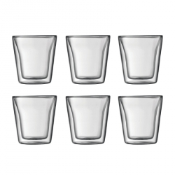 Glazen dubbelwandig 0,1 l, per 6