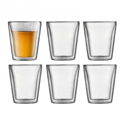 Glazen dubbelwandig 0,2 l, per 6