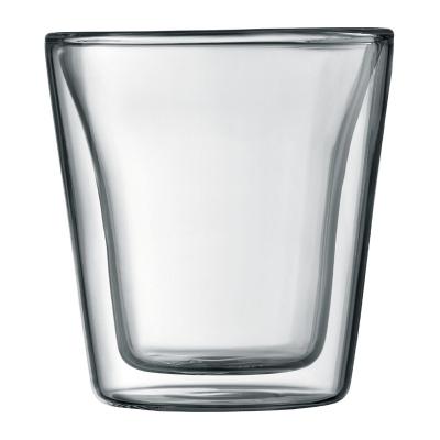 Bodum Canteen Dubbelwandige Glas Set van 2 0,1 L