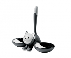 Kattenvoerbak grijs 55cl