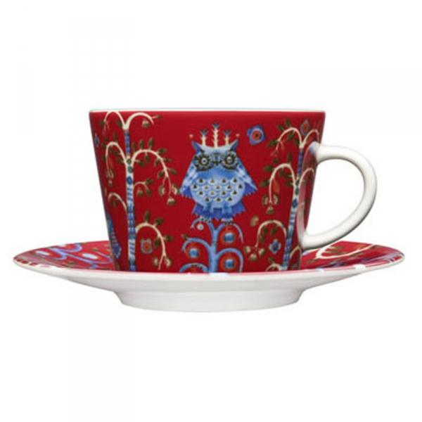 Koffieschotel 15 cm rood