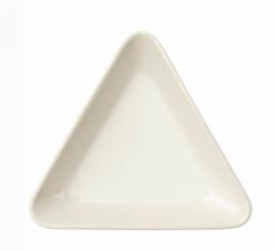 Schaal driehoek 12 cm wit